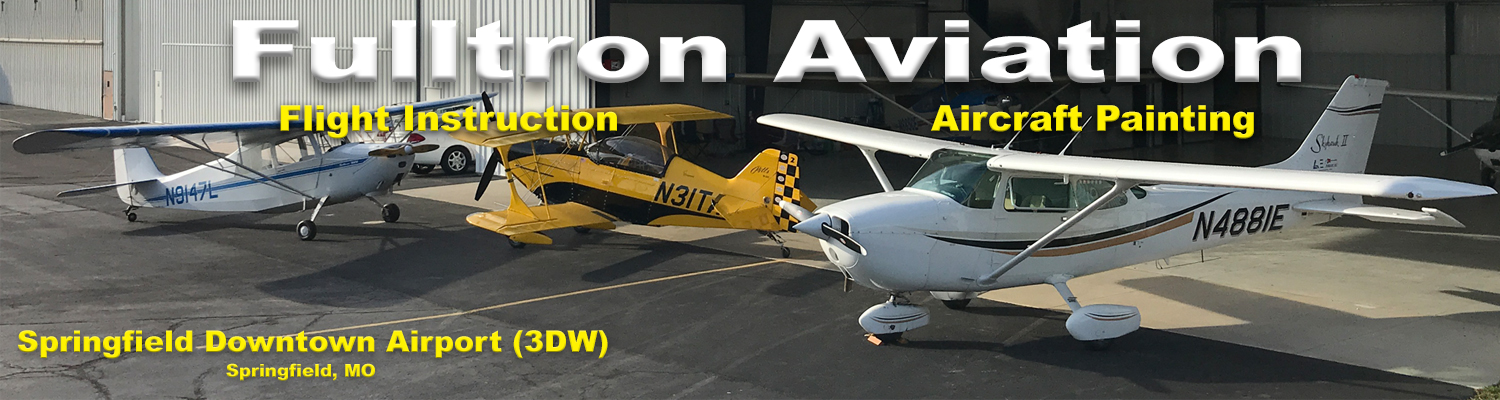 Fulltron Aviation is a flight school in Springfield, MO. Learn to fly at Springfield, Missouri's premier flight school. Located at Springfield Downtown Airport (3DW) in Springfield, MO Nicest training aircraft in SW Missouri. State-of-the-art Virtual Reality flight simulator available for your ground instruction at no additional cost.